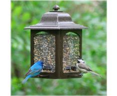Perky-Pet Mangeoire oiseaux anti-écureuil - Lanterne de Jardin décorative à suspendre pour nourriture à oiseaux - Capacité max. 1,4 kg de graines #367