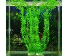 ASTrade Plante artificielle en plastique pour aquarium Vert