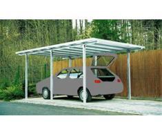 Ideanature Abris de jardin Abri de voiture Carport aluminium