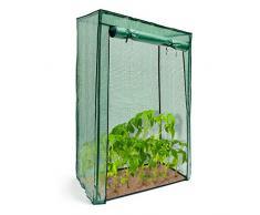 Relaxdays Serre pour Tomates Jardin Terrasse Portable PE avec Porte Fermeture Enroulable, vert