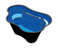 Bassin de jardin préformé en plastique Calmus SII 220L