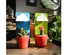 Pot de fleurs suspendu avec Arrosoir goutte-à-goutte en forme de nuage mignon(1 pièce)