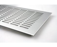 Grille d'Aération Plaque De Ventilation En Aluminium - argent anodisé