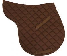 Tapis de selle en coton - chocolat - cheval