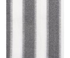 casa pura Brise Vue Balcon - Pare Vue Balcon | Brise Vue Occultant | Cache Balcon Résistant Aux Intempéries | avec Oeillets et Cordons | Gris/Blanc - 90x500 cm