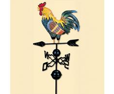 Ritapreaty 130 cm Cock Girouette Traditionnelle Couleur Coq De Fer Girouette Dessin pour Jardin Décoration Patio Cour