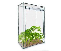 Relaxdays 10018888-344 Serre pour Tomates Jardin Terrasse Portable avec Porte Fermeture Enroulable