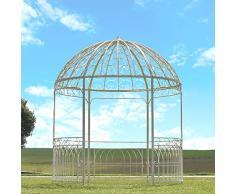 chemin_de_campagne Grande Tonnelle Gloriette de Jardin Fer Blanche ø250 cm