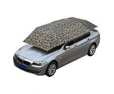 JL-Q Car Parasol/Semi-Automobile Tente Mobile Carport Pliable Portable Protection De Voiture Parapluie Voiture Protection Solaire Universel (157.48''X86.62 '') Tri-Couleur en Option,Camouflage