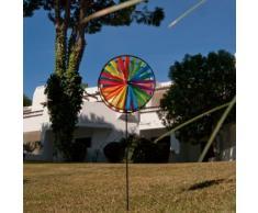 Girouette - Magic Wheel Twin 35 - résiste aux UV et aux intempéries - Roues : 2xØ35cm, Hauteur : 97cm - incl. Tige en fibre de verre