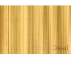 eyepower Canisse en PVC 140x300cm | rouleau en plastique brise vue pare soleil coupe vent clôture barrière déco ombrager jardin balcon terrasse | Jaune