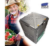 Composteur de jardin - Transforme des déchets organiques en compost - Composteur rapide avec couvercle, capacité 300ml