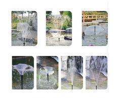 KING DO WAY Kit De Buse de Fontaine En Plastique, Jet D'eau Irrigation Arrosage Petite Fontaine Pour Jardin Extérieur Étang Bassins Buse Fontaine Spray Heads Noir Petit