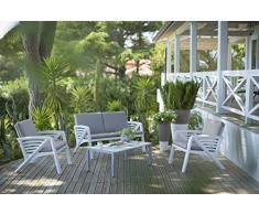"""Grosfillex - GROSFILLEX - Salon de jardin lounge Sunday """"Corfou"""""""