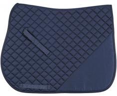 RIDING WORLD Tapis De Selle Chabraque Coton à Marquer - Bleu Marine - Cheval