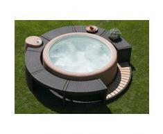Softub en rotin Bordure pour jacuzzi Resort Moka 300