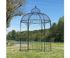 Grande Tonnelle Pergola Gloriette Kiosque Fer de Jardin ø200 cm
