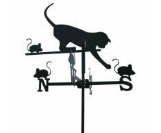 Girouette Chat et Souris en fer forgé petit modèle