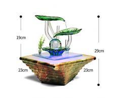 Xinxinchaoshi Minimaliste Moderne en céramique Fontaine de Table Fontaine Humidification intérieure Home Decoration nouveauté Cadeau (Color : A)