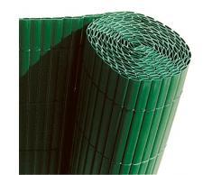 Faura 15001 Double Face Décoration Extérieure Canisse PVC Vert