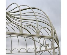 chemin_de_campagne Tonnelle Gloriette Pergola en Fer de Jardin Blanche ø200 cm