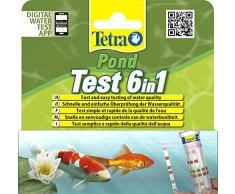 TETRA Pond Test 6in1 - Bandelettes de Tests de l'Eau de Bassin de Jardin - 25 Bandelettes