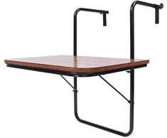 Fer Table suspendu, table de balcon pliable,A