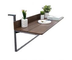 Table Basse Pliante DExtérieur Pour Table Suspendue de Balcon Simple Et Élégant, Petite Empreinte de Pas, 2 Couleurs, 3 Tailles, ZND, marron, 100x37CM
