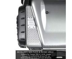 Grille d'admission de Plaque Anti-dérapante en métal pour Voiture Traxxas TRX-4 1:10 RC Crawler