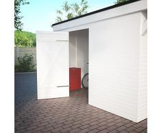Easycarport Carport avec abri de jardin 6,16 x 9 m