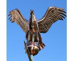 Linneborn toit Girouette en 3D Motif aigle Longueur 55 cm, y compris support universel Bronze Produit (en langue allemande)