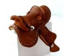 Melody Jane Maison de Poupées Cuir Western Selle Miniature Cheval Stable Équestre Accessoire