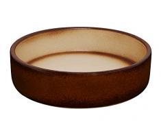 K&K Keramik K & K Bonsaï Bol/Pot pour plantes marron 24 x 6 cm (Volume : 1000 Ml) pour lextérieur, boîte lasurée Céramique lourde (garantie 5 ans)