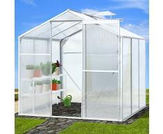 Jago - Serre de jardin - en aluminuim et polycarbonate - 5,36 m³ - sans fondation - MODÈLE AU CHOIX
