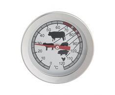 Barbecue 0-120 °C Pyromètre infrarouge thermomètre sonde de température de cuisson en acier inoxydable