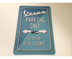 Vespa Scooter Parking Only-Tin Sign with Parking Garage Carport 1 by Blechschild