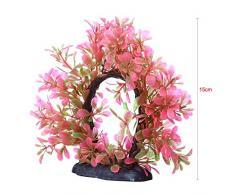 niceEshop(TM) Plante Aquatique Artificielle en Plastique, Décoration pour Aquarium (Rose)