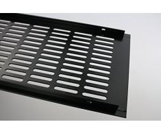 Grille de ventilation en aluminium web ventilation de la plaque 150 mm x 600 mm en différentes couleurs - Revêtement en poudre noire