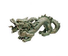 Design Toscano EU9306 Statue de Dragon Chinois dEtang de Koi Résine