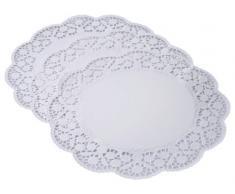 Kaiser Patisserie 2300769097 12 napperons en papier rond, 36 cm, blanc