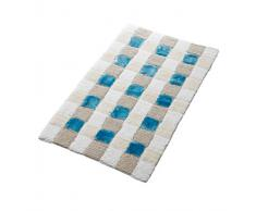 Ridder 7304030-350 Tapis de Bain Carré Cotton/Rayon Bleu 70 x 120 cm