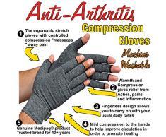 Medipaq - Anti-Arthritis Gants (La Paire) - Apportant Chaleur Et De Compression Pour Aider A Augmenter La Circulation Réduire La Douleur Et Favoriser La Guérison (1x Paire - Grand)