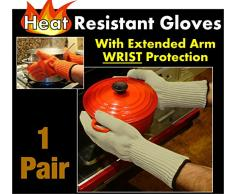 Gants Longs Anti-Chaleur pour Four, Medipaq® - Tenez vos plats brûlants en toute sécurité ! Gants robustes pour four à usage professionnel et domestique
