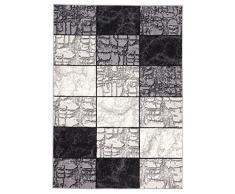 Tapis Moderne Design Carré Gris Differentes Dimensions (80 x 150 cm)