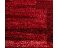 casa pura Tapis Carré 100x100 Design Rouge Moderne | 100% Polyamide Doux | Dos Antiderapant | Rouge, 100x100cm - Veneto
