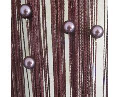 Rideau fils acheter rideaux fils en ligne sur livingo - Rideaux de porte en perles ...