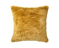 I Fil Home Coussin Fausse Fourrure Tallinn Ocre 40 x 40 cm
