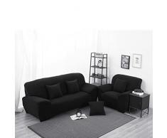 WINOMO Housse de Canapé Salon Couverture Extensible 3 places chaise housses Spandex Décor(Noir)