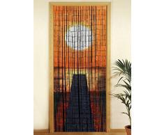 Wenko Rideau en bambou 819111500 -Â Coucher de soleil, 200Â x 90Â x 0,2Â cm, Bambou, Mehrfarbig, 200 x 90 x 0.2 cm