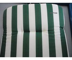 Kettler Coussin pour Bain DE Soleil Rayure Blanche ET Verte 190x60 cm